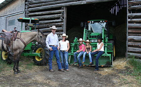 British Columbia Ranch Family of 5
